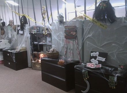 Image Result For Office Halloween Haunted House Office Halloween Decorations Cheap Halloween Decorations Halloween Cubicle