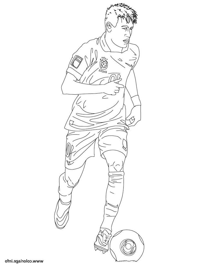 Coloriage De Neymar A Imprimer Gratuit