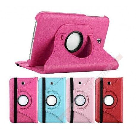 Funda Piel Diseño Giratorio 360 Grados Para Galaxy Tab 4 De 7 Pulgadas Fundas Para Tablets Fundas Disenos De Unas