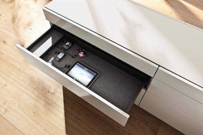 Hulsta Kitchen Charging Drawer, Remodelista