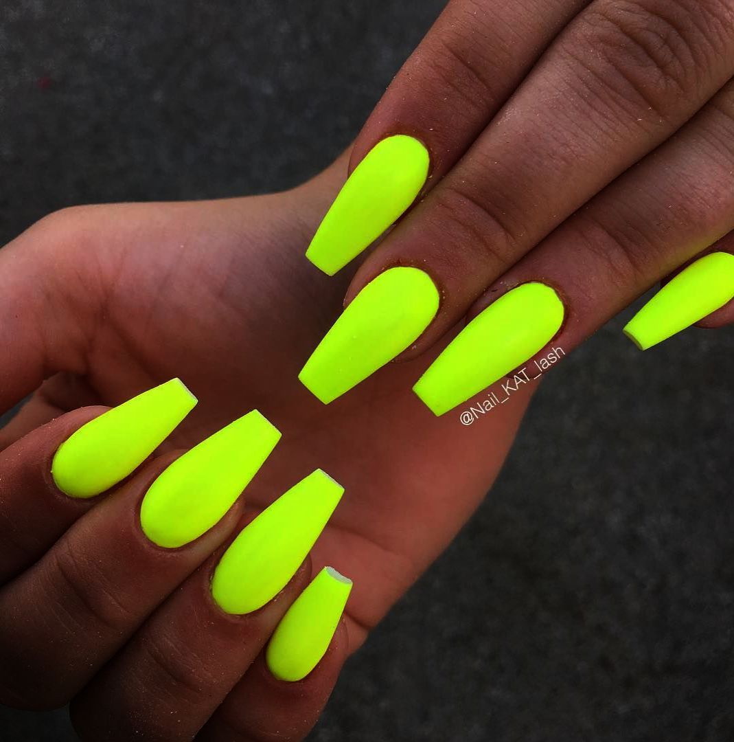 Review American Apparel Nail Lacquer Neon Yellow With Images