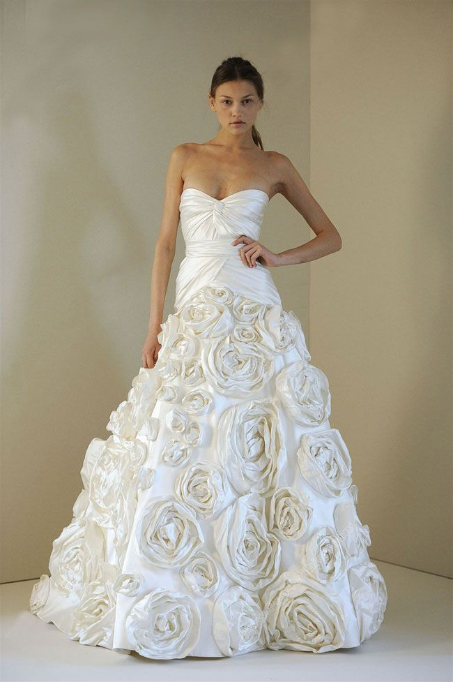 Beautiful bridal dresses with roses