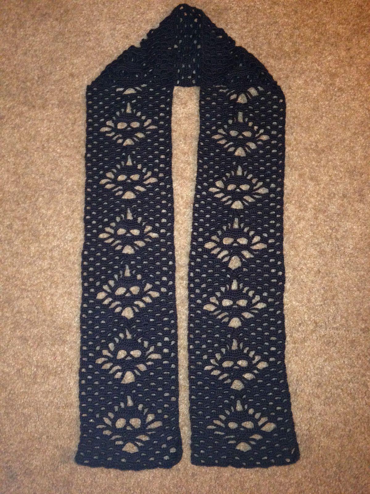 Ravelry: Narrow Crochet Skull Scarf by Karin Kaufmann | Crochet ...