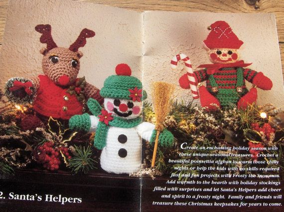 vintage 1994  Red Heart crochet patterns by GransTreasures on Etsy