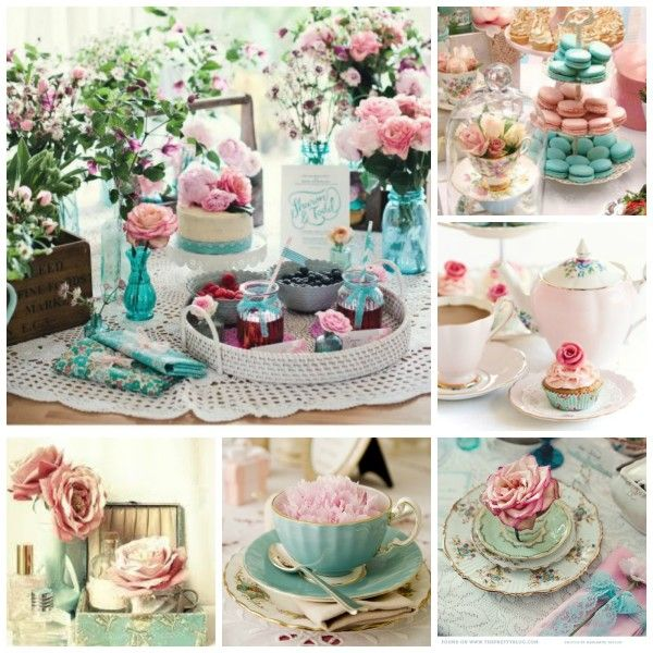Tea Party Decorating Ideas: Decorating For A Turquoise Tea Party Marie Antoinette