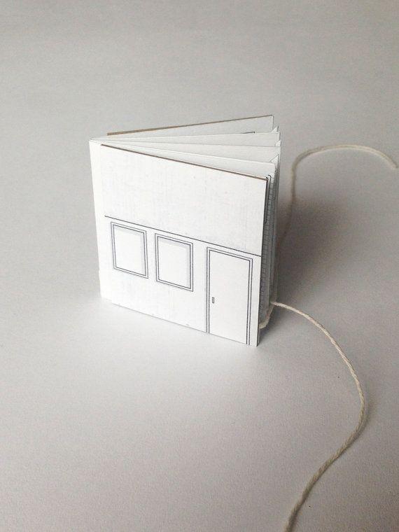 mini pop up buch 2 x 2 das s este kleine handgesch pftes papier haus die vorderen und hinteren. Black Bedroom Furniture Sets. Home Design Ideas