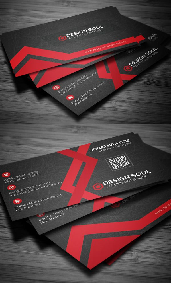 Creative business card design pinterest creative awesome free business cards psd templates and mockup designs reheart Choice Image