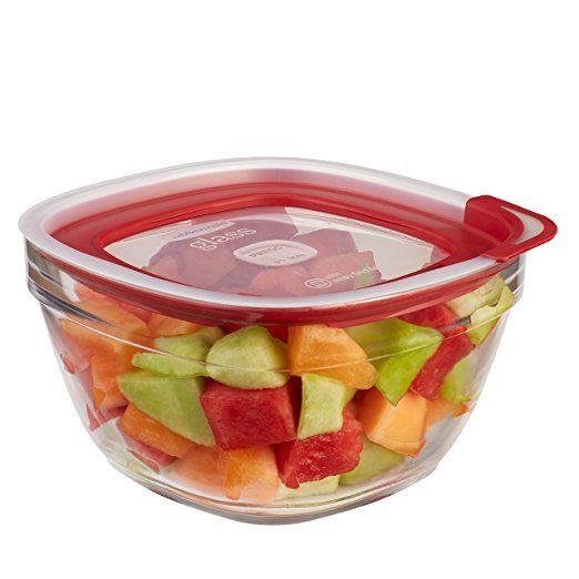 Rubbermaid Easy Find Lid Glass Food Storage Container 11 1 2 Cup 2856007 Food Glass Food Storage Containers Easy Find