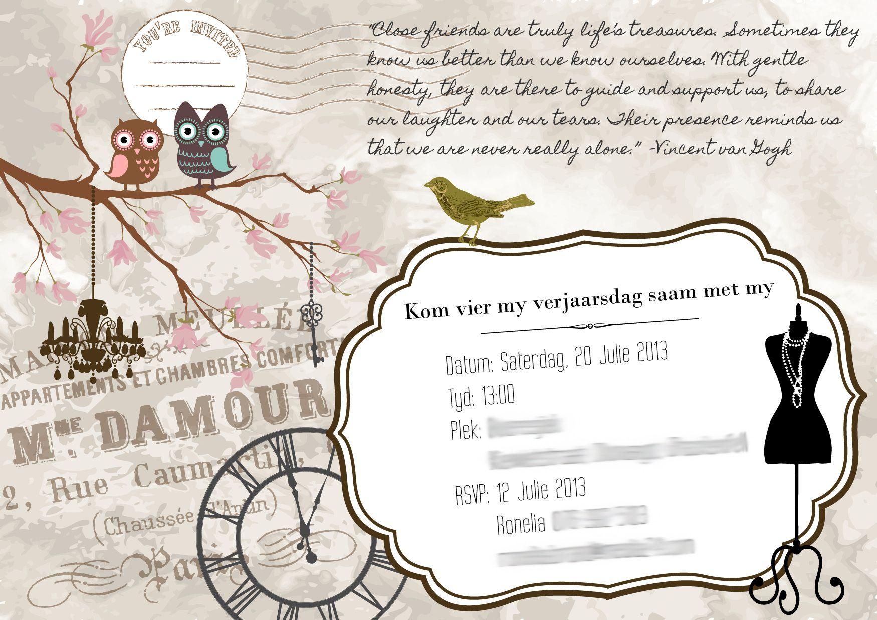Ladies Party invite. Copyright Equest Design