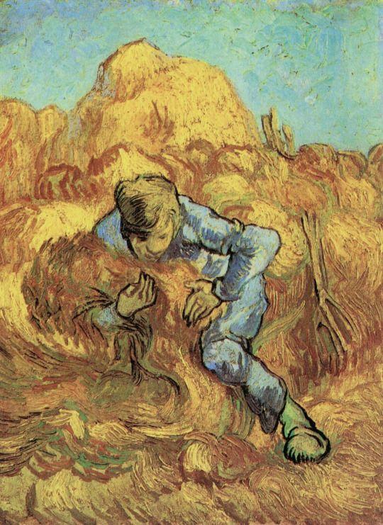 The Sheaf Binder (After Millet) 1889, Vincent Van Gogh.