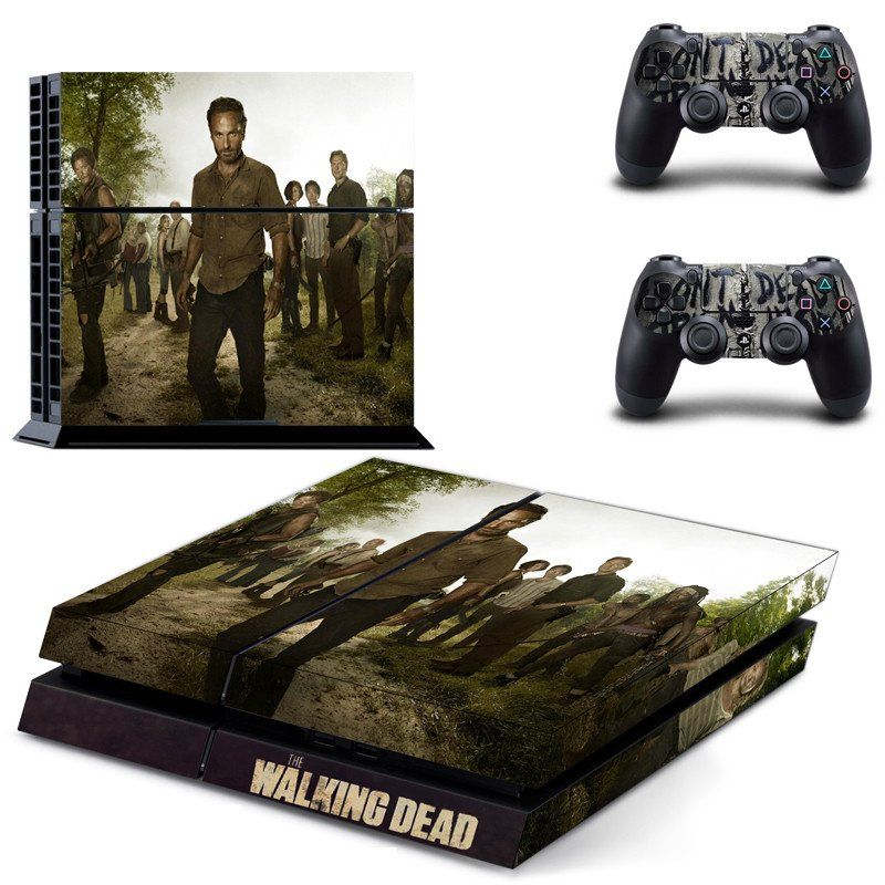 Walking Dead Vinyl Skin Decals Cover for Sony PlayStation 4 PS4 ...