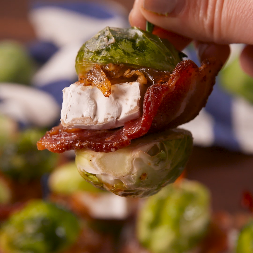 Brussels sprouts make the CUTEST slider buns. #food #easyrecipe #healthyeating #cleaneating #ideas