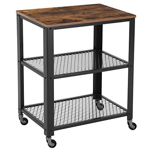 Songmics Rustic 3 Tier Serving Cart And Rolling Utility S Https
