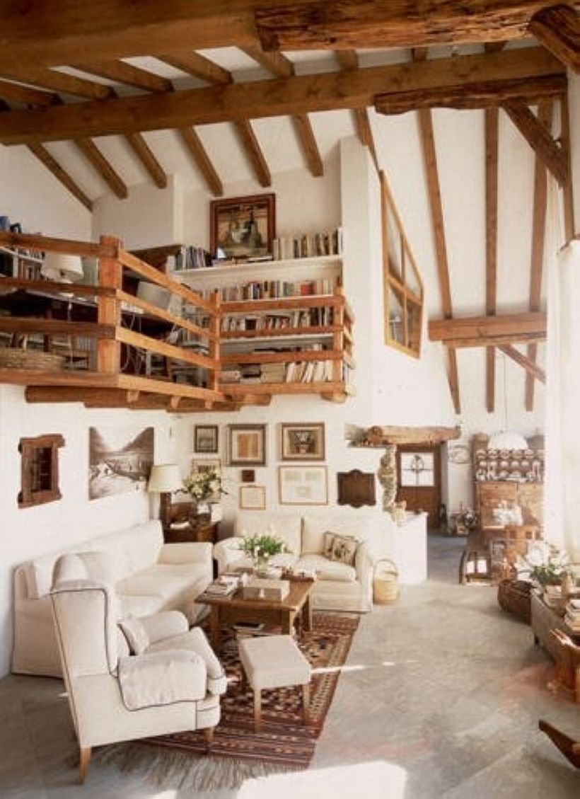 nice 36 Bright White Living Room with Exposed Wood Ceiling Beams