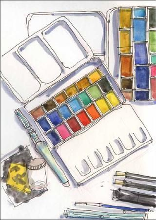 My Holiday At Home Vol 1 Watercolor Pallet Watercolor Projects