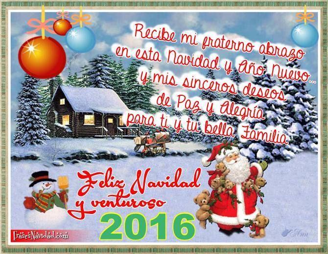 Feliz navidad frases navide as dedicatorias mensajes - Postales de navidad bonitas ...
