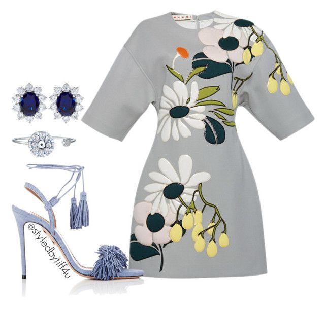 """""""Arrangement...."""" by iwillmakeithappen ❤ liked on Polyvore featuring Marni, Aquazzura and CARAT*"""