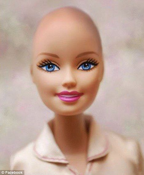 bald barbie for cancer patients! love!