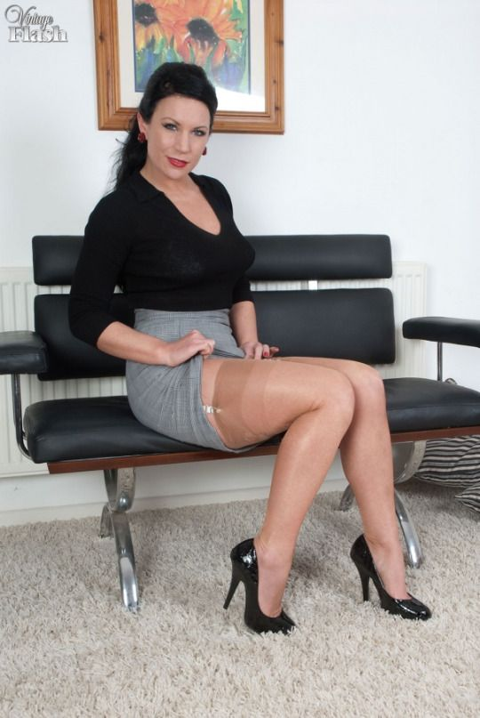 Hot german secretary in black stockings - cams24&period