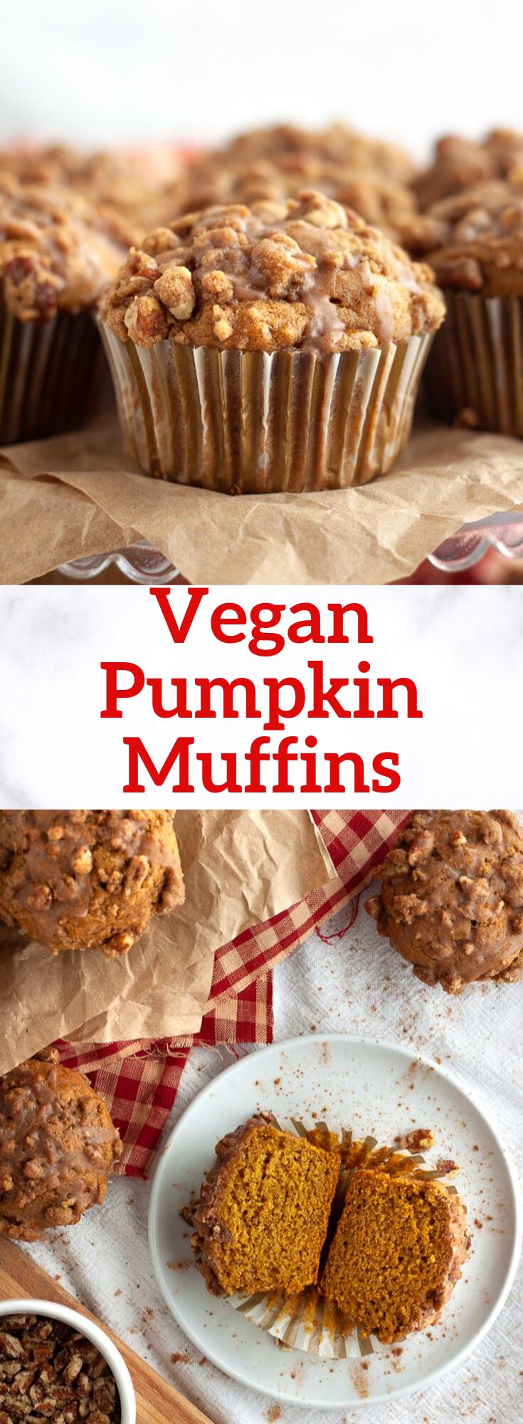 Vegan Pumpkin Muffin Recipe | plant.well #pumpkinmuffins