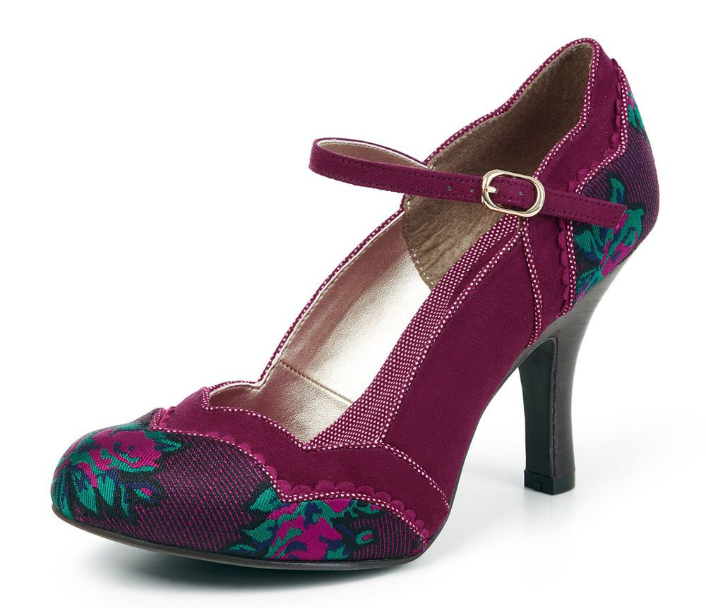 Ruby Shoo Miranda Black Pinstripe Retro High Heels UK 9 bzbpx5