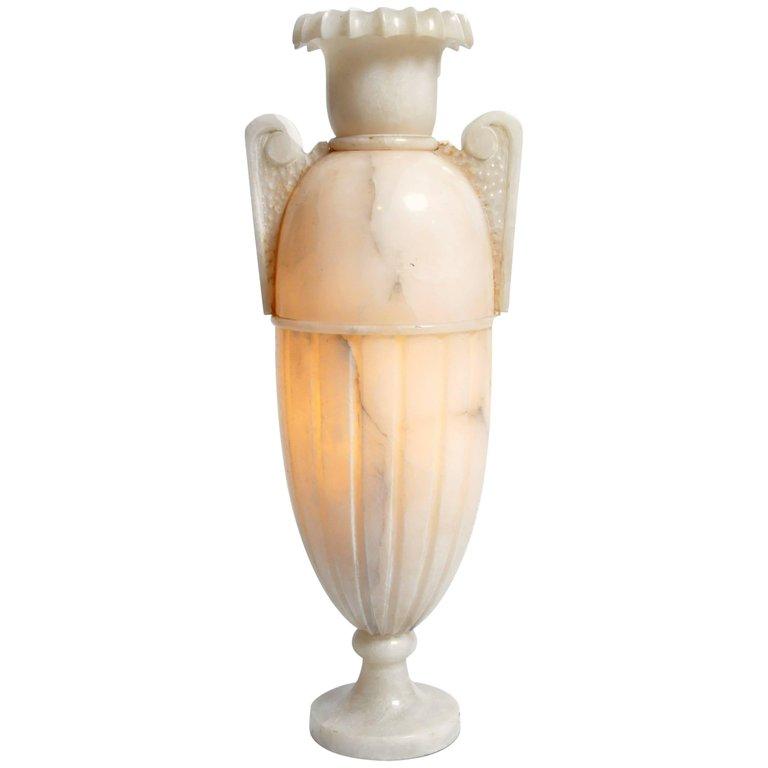 Vintage French Alabaster Jar Lamp Alabaster Jar Jar Lamp