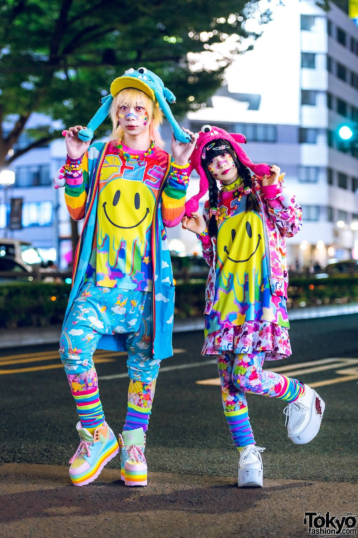 Kawaii Street Styles in Harajuku w/ Mixed Prints, 8%DOKIDOKI