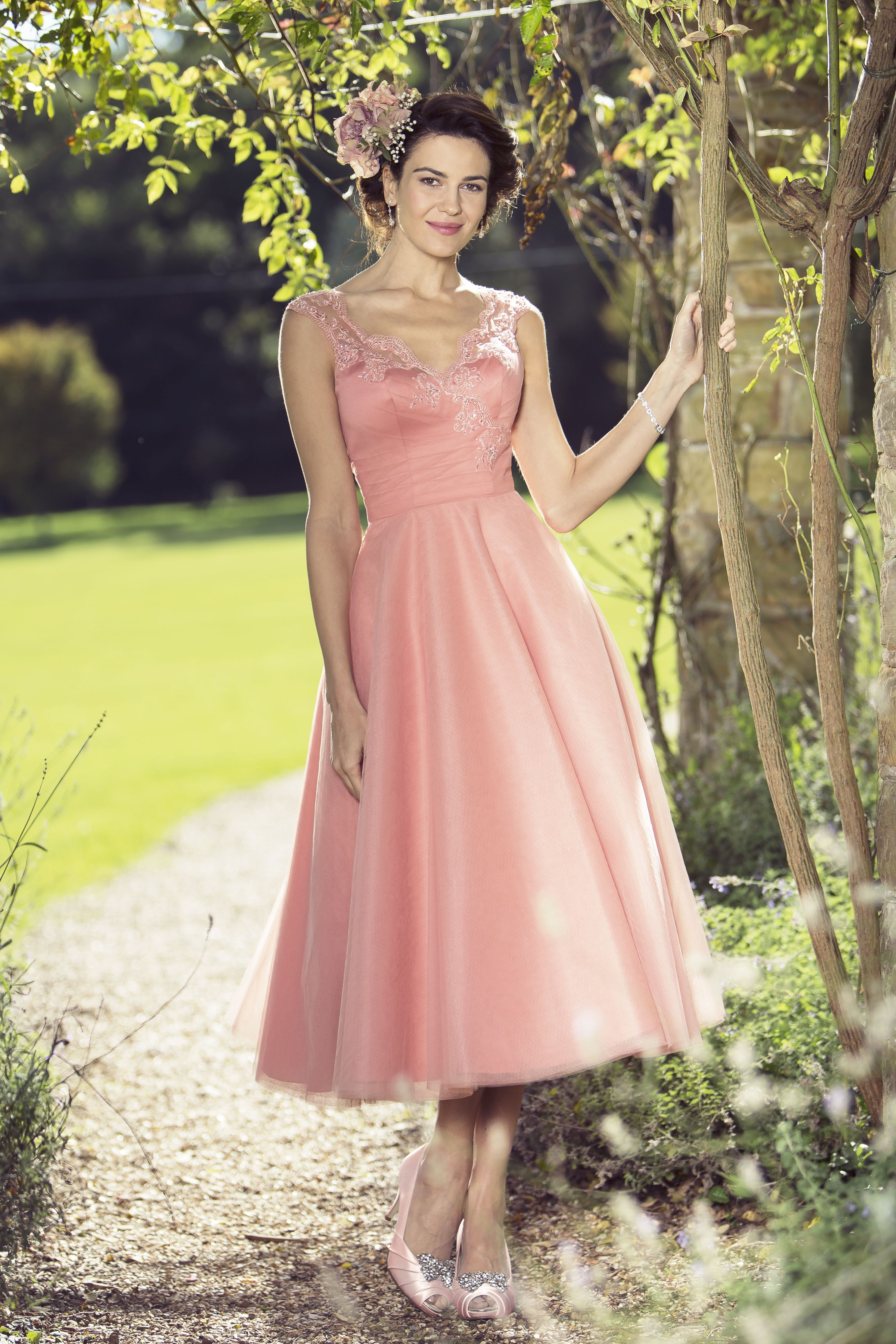 M688 new 2016 collection in stores from november short and m688 new 2016 collection in stores from november short and sassy tea length bridesmaid dress with embellished lace shoulder and back detail ombrellifo Gallery