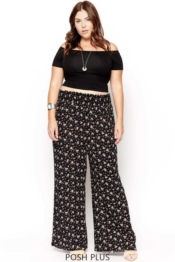 c287cbaa476 Palazzo Pants for Plus Size–24 Palazzo Outfit Ideas for Curvy Girls
