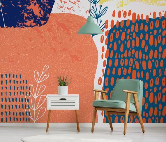 Removable Wallpaper Scandinavian Wallpaper  Waves