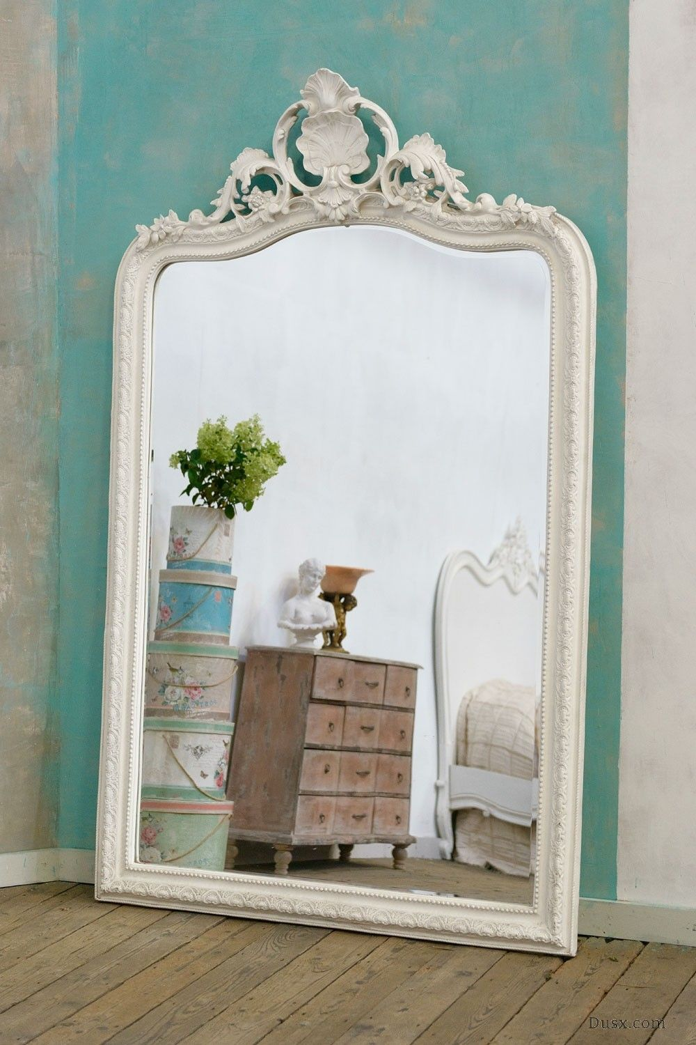 Manon French Rococo White Bevelled Mirror Sales Price 625 00