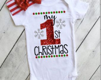 9b721a341364 christmas outfits for girls my 1st christmas onesie baby girl christmas  outfit - christmas onesies for girls - santa