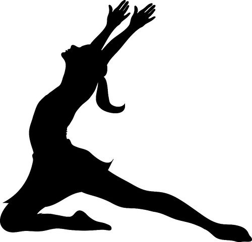 clip art illustration of a silhouette of a ballet dancer lunging rh pinterest com clip art dancer silhouette clip art dance shoes
