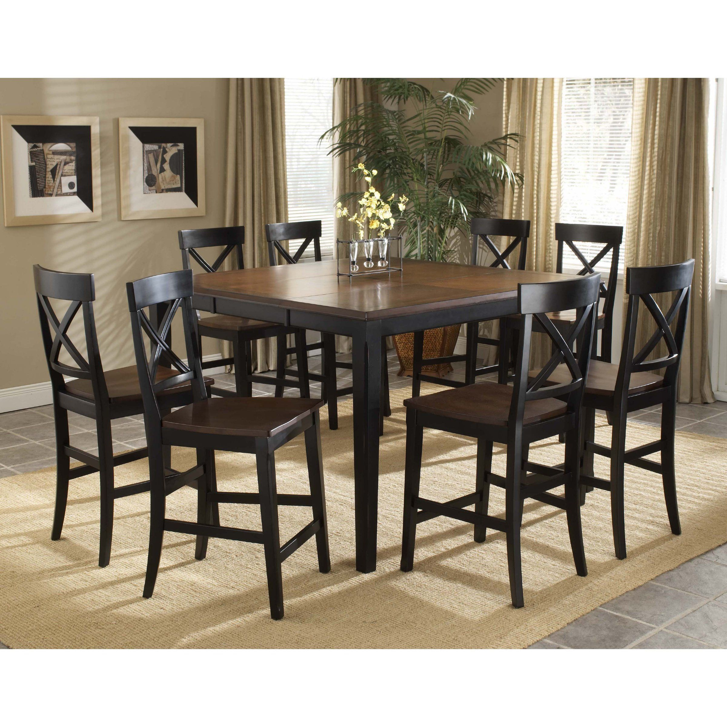 Englewood 9 Piece Gathering Table Dining Set   Dining Table Sets At  Hayneedle #pubsetkitchendiningrooms