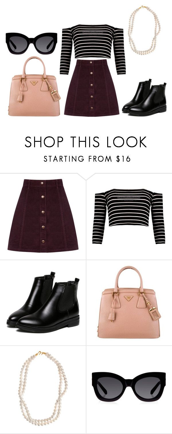 """""""Friday 20th November #1"""" by amwaligora ❤ liked on Polyvore featuring Oasis, WithChic, Prada, STELLA McCARTNEY and Karen Walker"""