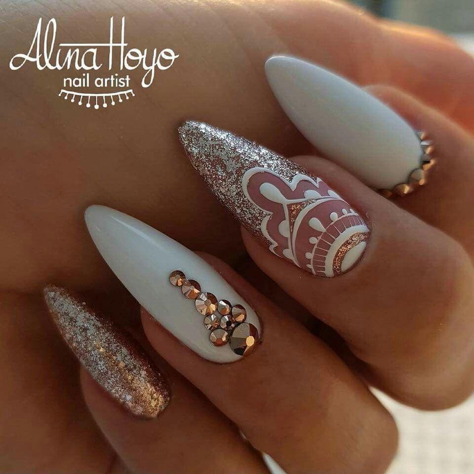 60 Pretty Matte Nail Designs   Matte stiletto nails, Stilettos and ...