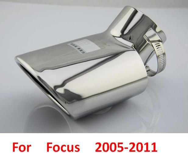 Exterior Accessories Stainless steel for ford focus car rear end tail Exhaust Muffler pipe 2005 2006 2007 2008 2009 2010 2011