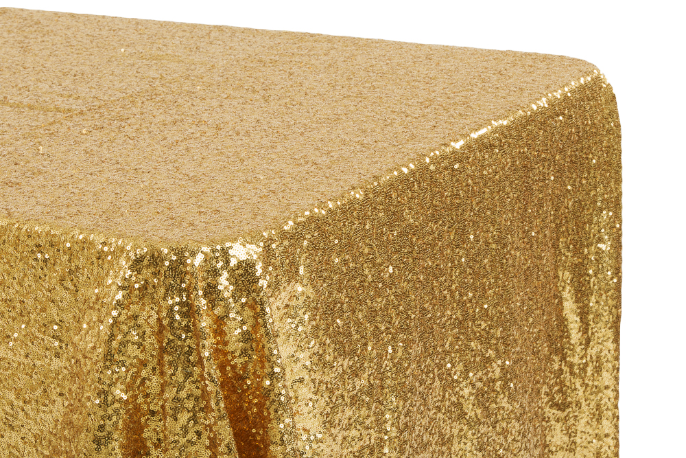 Glitz Sequin 90 X156 Rectangular Tablecloth Gold Glitz Sequin Tablecloth Table Cloth Sequin Tablecloth