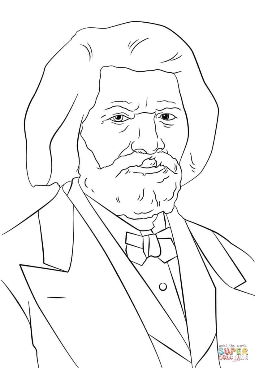 Frederick Douglass Coloring Page From Famous People Category Select From 28356 Printable Crafts Of Coloring Pages Frederick Douglass Black History Printables