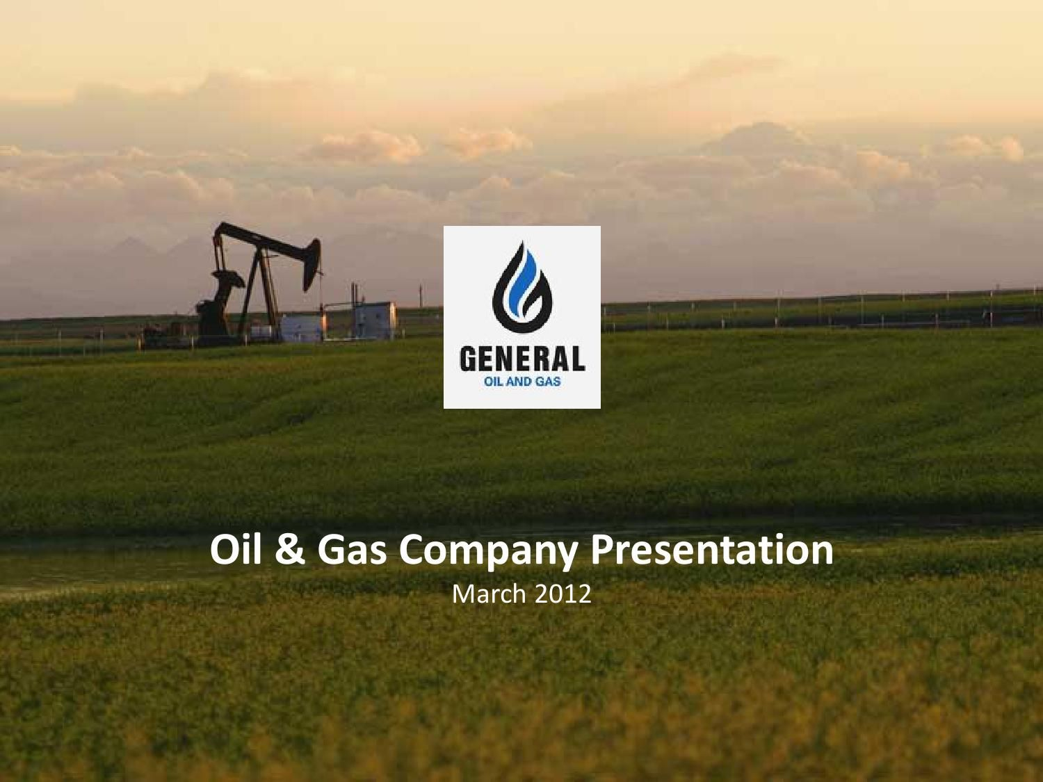 Sample Business Plan PowerPoint Oil & Gas Business
