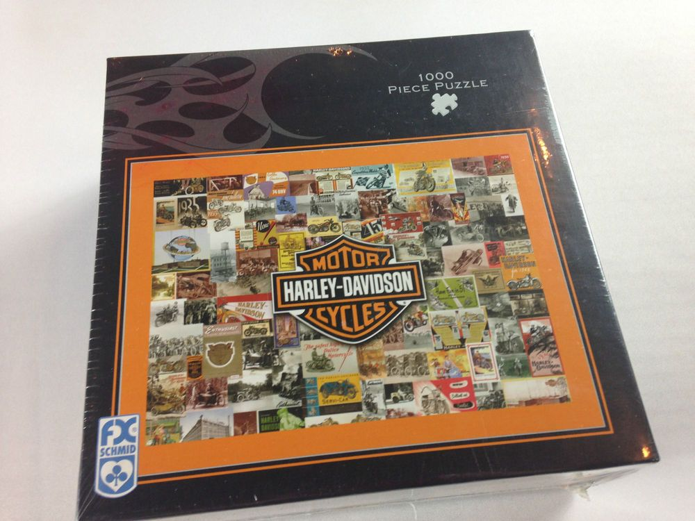 new harley davidson 1000 piece puzzle usa made hd vintage 27 x 20 motorcycles. Black Bedroom Furniture Sets. Home Design Ideas