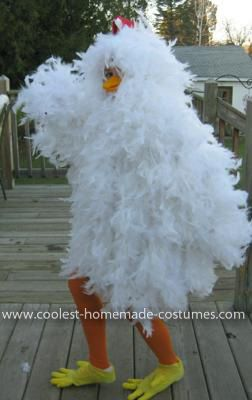 Homemade Chicken Costume I have made 3 of these costumes now everybody wants to be a chicken!! My daughter wore this Homemade Chicken Costume and won 3 ... & Coolest Chicken Costume | Pinterest | Chicken costumes Costumes and ...