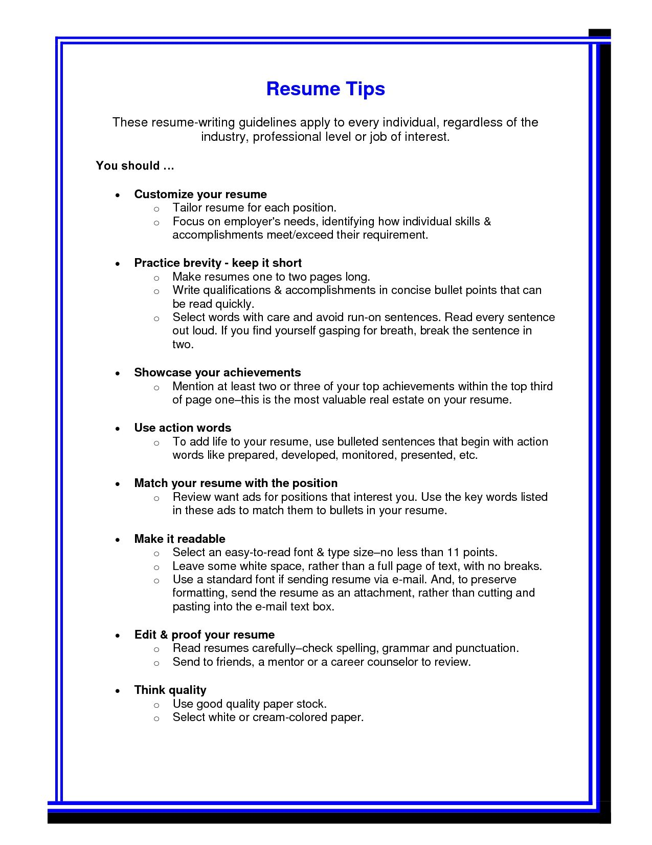 Resume Formatting Tips Resume Tips Simple Resume Job Resume