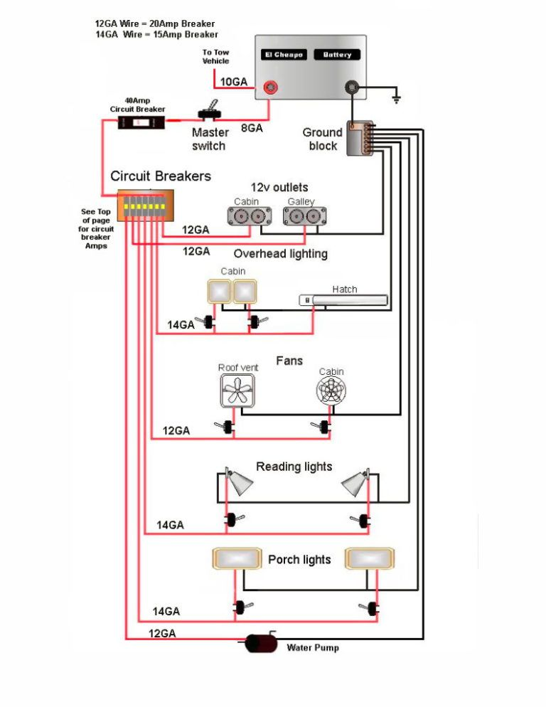teardrop camper wiring diagram  toyota 2e engine wiring