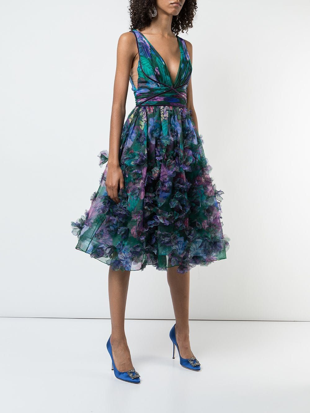 8cfeec35 Marchesa Notte floral-appliquéd midi dress $557 - Buy Online AW18 - Quick  Shipping, Price