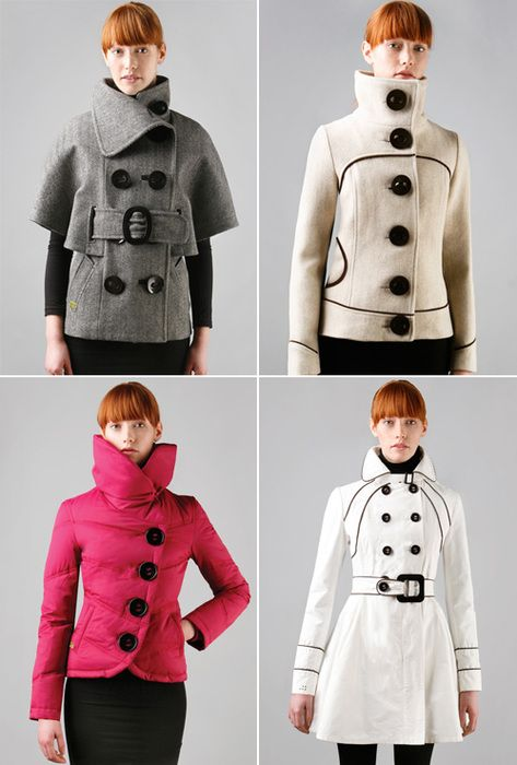 Cute space-agey jackets and coats by Soia   Kyo.  6b2b0a3d0d5c