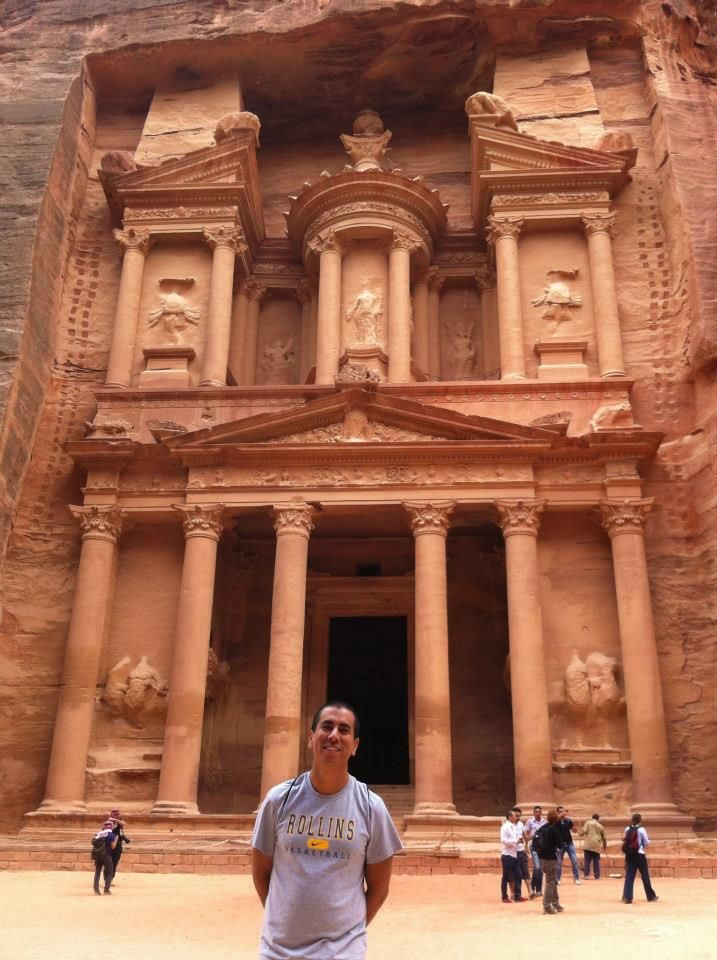 International Admission Director Ed Bustos in Petra