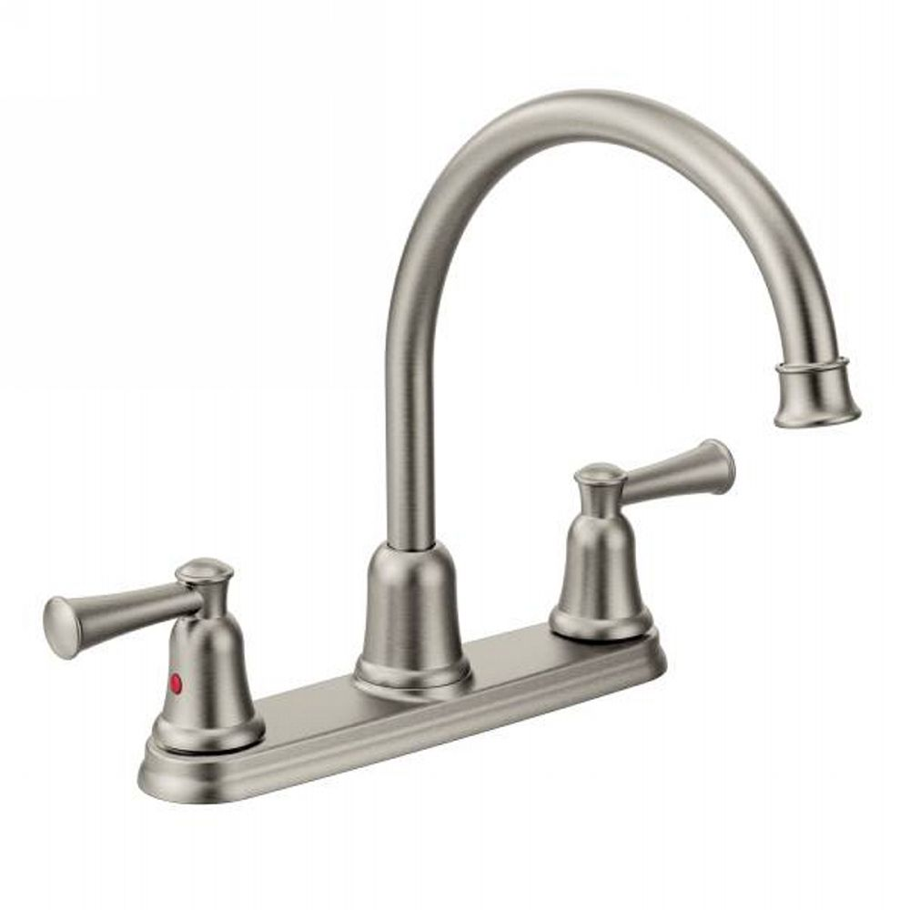 classic stainless two handle centerset kitchen faucets efaucets shop ...