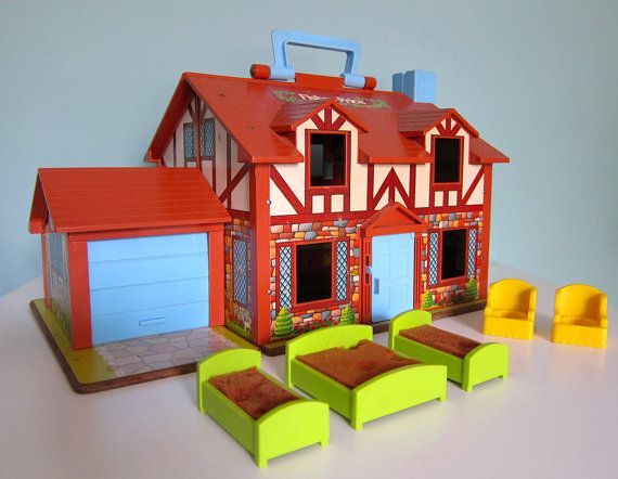 Fisher Price Tudor House and Furniture 1980s by RetroGirlRedux