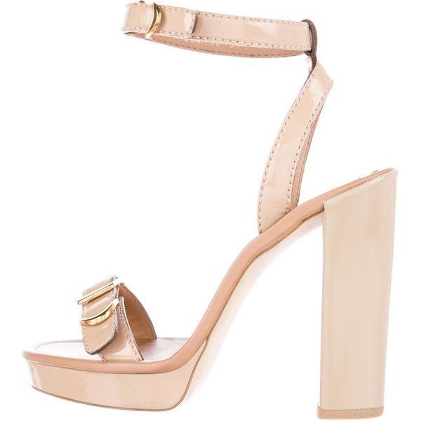 clearance genuine Stella McCartney Buckle-Accented Sandals great deals sale online Red pre order eastbay YiPMPZNtI